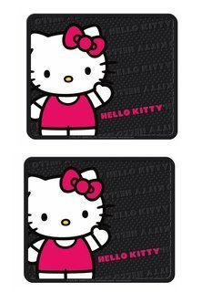 Plasticolor Rear Seat Utility Rubber car Truck SUV Floor Mats – Hello Kitty Sanrio Waving – Pair