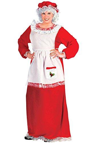 Fun World Costumes Women's Plus-Size Plus Size Adult Mrs.Claus Promo Suit, Red/White, (Mrs Santa Claus Costume Plus Size)