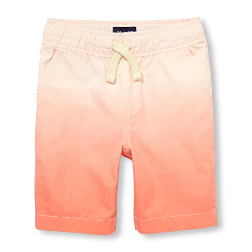 On Shorts Drawstring Pull - The Children's Place Big Boys' Jogger Shorts, Jamaican Sunrise 02047, 6