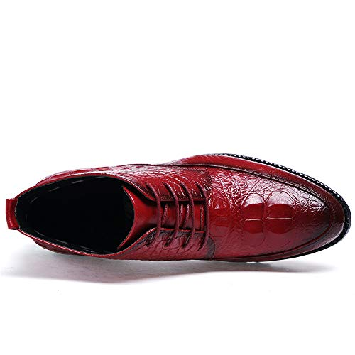 Xiaojuan da Nero Avant Business Fashion Uomo Vino Tattoo Oxford Pelle Stivaletti uomo Dimensione shoes Crocodile EU 38 Trend casual Color Scarpe garde qtrtT