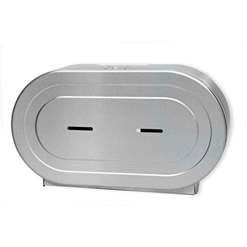 Twin 9'' Jumbo Tissue Dispenser, Stainless Steel by Palmer Fixture