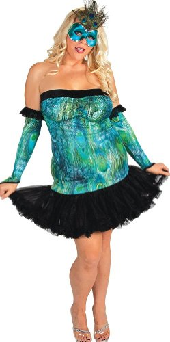 Plus size Peacock Costume dress Teal 11x