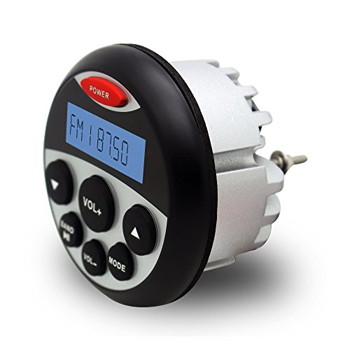 Waterproof Marine Radio FM AM MP3 Gauge Stereo Bluetooth Music for BOAT ATV UTV SPA