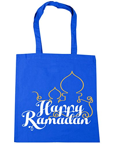 HippoWarehouse happy ramadán Tote Compras Bolsa de playa 42cm x38cm, 10litros Azul Aciano