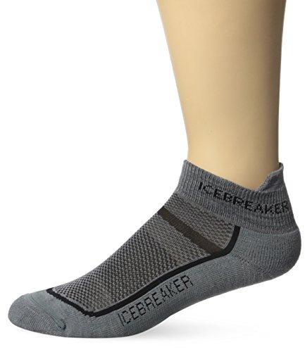 Icebreaker Men's Multisport Light Micro Socks, Twister Heather/Black, Large