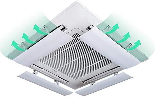 Aire acondicionado deflector de viento (Paquete de 4 Aire Acondicionado Central Deflector Anti-Viento del Aire Acondicionado Que sopla de Manera Directa Deflector de Viento, Fácil de Instalar: Amazon.es: Hogar