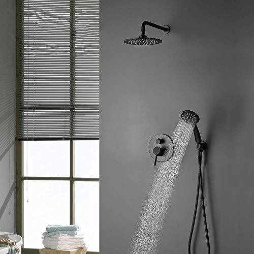 立体水栓 蛇口 で壁ブラックシャワーセットが隠され壁掛けラウンド二機能シャワーリトラクタブルシャワーの蛇口の実用的な美しいです 万能水栓 台付
