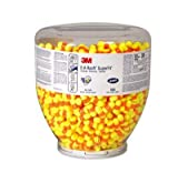 3M 391-1002 30 One Touch Dispenser Refill with Single Use Cylinder Shaped PVC and Foam Uncorded E-A-R Classic SuperFit Earplugs (Pack of 500)