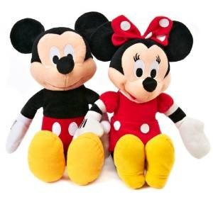 Disney Mickey and Minnie Plush Dolls