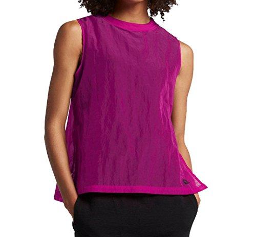 Nike Sportswear Tech Hypermesh Sleeveless Shirt True Berry Black Black 846447 665 (xs) (Tech Sleeveless Shirt)