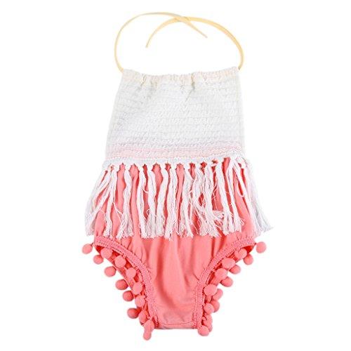 MIOIM Newborn Backless Tassels Bodysuit