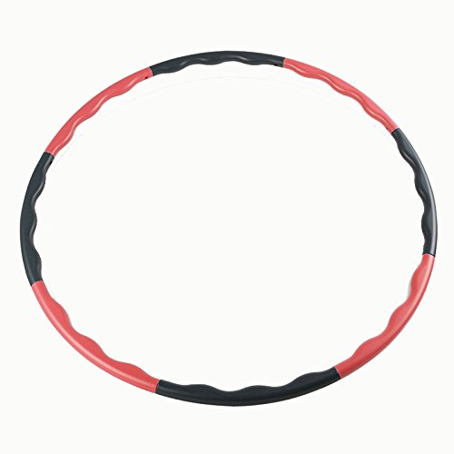 Hula hoops - SODIAL(R)80CM fitness removable weight loss Hard Tube equipment waist slimming hula hoops Red