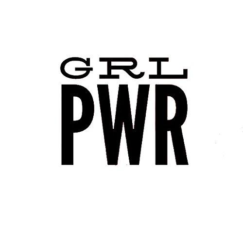 Girl Power GRL PWR Decal Vinyl Sticker Cars Trucks Vans Walls Laptop  BLACK  5.5 x 4.75 in CCI974