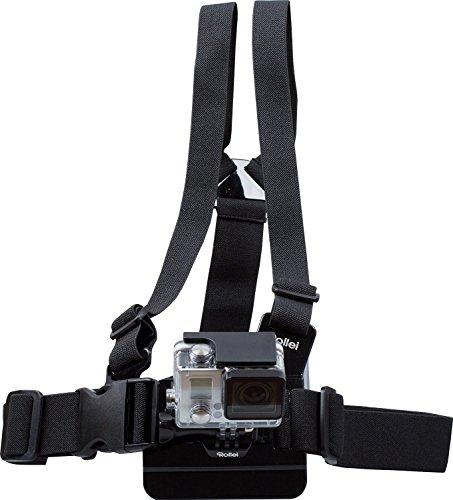 Rollei Brustgurt - Halterung für Rollei Actioncam 200 / 300 / 400 und 500 Serie und GoPro Hero Modelle - Schwarz