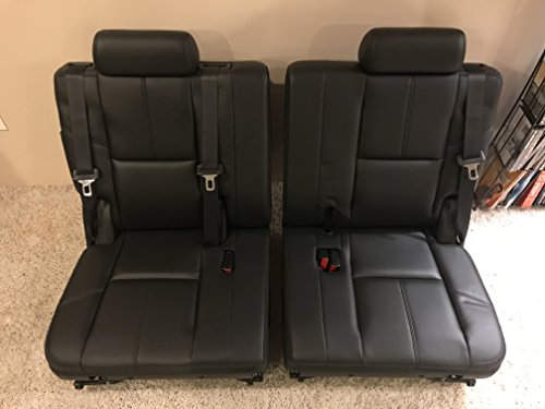 07 08 09 10 11 12 13 ESCALADE YUKON TAHOE SPLIT BLACK 3RD THIRD ROW SEAT REAR SEATS (Tahoe Seats Row Third)