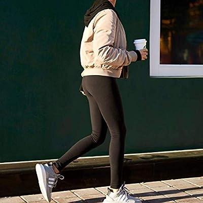 Baihetu High Waist Leggings with Inner Pocket Super Soft Yoga Pants for Women at Women's Clothing store
