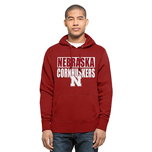 ('47 NCAA Nebraska Cornhuskers Men's Headline Pullover Hoodie, Large, Red)