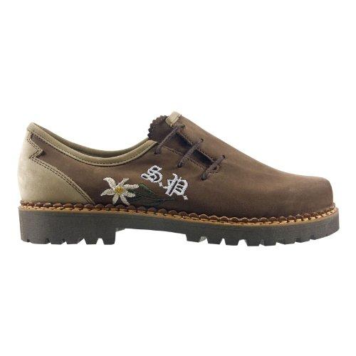 SCHAPURO 10122-831 Damen Schuhe Premium Qualität Trachten Schnürer Braun (Braun-Beige)