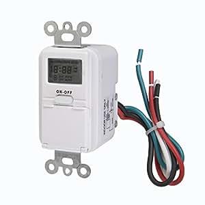 Westek TMDW10 In-Wall Programable Digital Timer, 120 V.25 HP