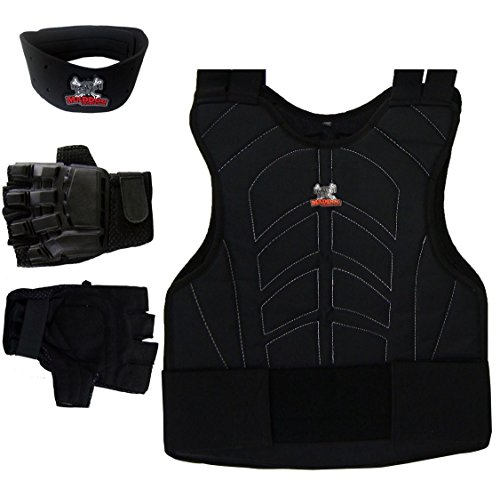 Maddog¨ Sports Padded Chest Protector, Tactical Half Glove, & Neck Protector Combo Package