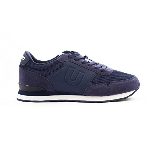 Umbro Umbro Trafford - Zapatilla para hombres, color blueprint / blanco Blueprint / Blanco