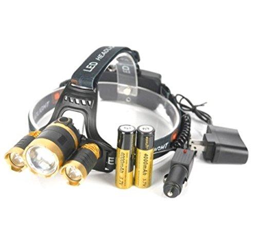 1 Set 10000 Lumen XML T6 + 2R5 LED Flashlight Headlamp Headlight 4 Mode 10W Head Lamp Magnificent Fashionable Ultra Xtreme Tactical Military Waterproof Outdoor Hiking Hunting Fishing Light, ()