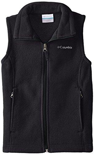 Columbia Big Girls' Benton Springs Fleece Vest, Black, Medium