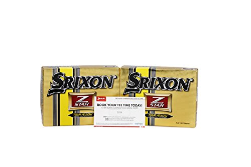 (Srixon Zstar Tour Golf Ball Pack with Free Golf Coupon (Pack of 24),)