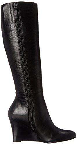 Nine West Oran cuero de la rodilla-alta de arranque Black
