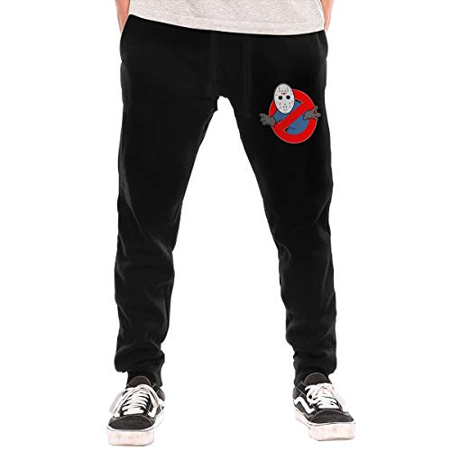 Cheny Men's Ghostbusters Jason Voorhees Active Basic Jogger Pants Sweatpants Pocket -