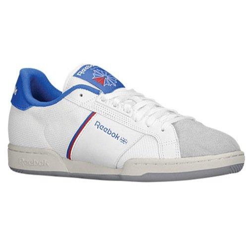 Reebok Heren Npc Ii Re Veterschoen Sneaker Wit / Vital Blue / Stadion Rood / Sandtrap / Tingrijs