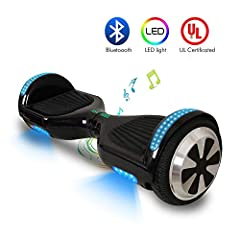 Specifications: Hoverboard body:Aluminum alloy + plastic Color: Black Model: LH-C Charging time:2-4h Charging voltage:90-240V Input:42Vdc 2A Capacity:144Wh 4.0Ah Maximum climb angle:15-20 degree Tire type and size:6.5 in Highest speed:10km/h ...
