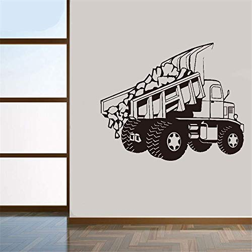 Wall Quotes Decal Wall Stickers Art Decor Nursery Rhyme Wall Decal Dump Truck Outline Rubber Stamp for Nursery Kids Room Boys Room ()