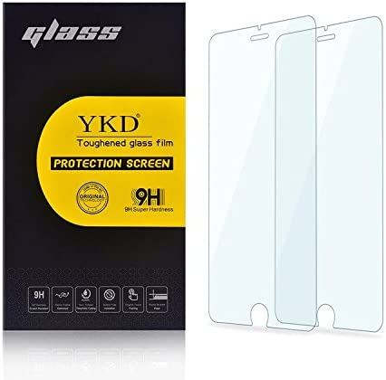 25 PCS AG Matte Anti Blue Light Full Cover Tempered Glass for iPhone 6 Plus /& 6s Plus Clear YINZHI Screen Protector Film
