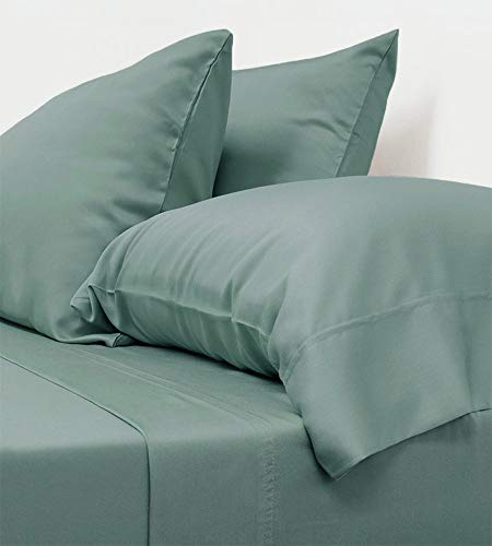 Cariloha Classic Bamboo Sheets 4 Piece Bed Sheet Set - Softest Bed Sheets and Pillowcases - 100% Viscose from Bamboo (Queen, Tahitian Breeze)