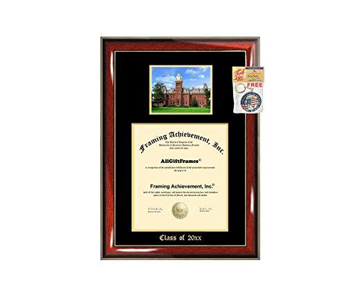 WVU Diploma Frame Big West Virginia University School Campus Photo Graduation Degree Double Mat Framing Document Graduation Gift Bachelor Master MBA Doctorate PHD Best