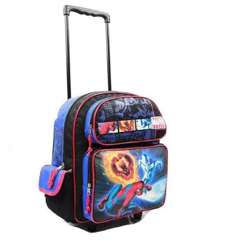 Großem Rolling Rucksack – Marvel – Spiderman – W W W Johnny Storm & Silver Surfer New 39389 0e44f9