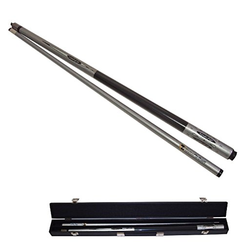 Silver Titanium Graphite Billiard Cue Pool Stick + (58 Tall Floor Lamp)