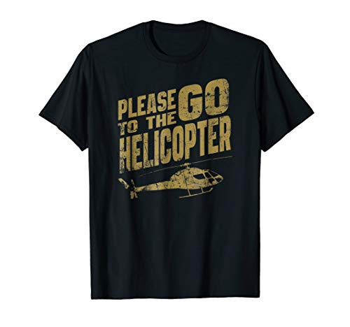 HELICOPTER Pilot Funny 80's Movie Retro Action T Shirt ()