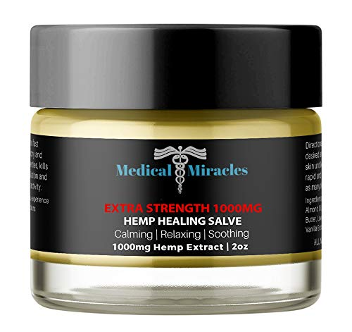 Hemp Pain Cream Salve - Extra Strength 1000mg Full Spectrum Hemp Extract - Fast Muscle and Joint Pain Relief. 2oz -