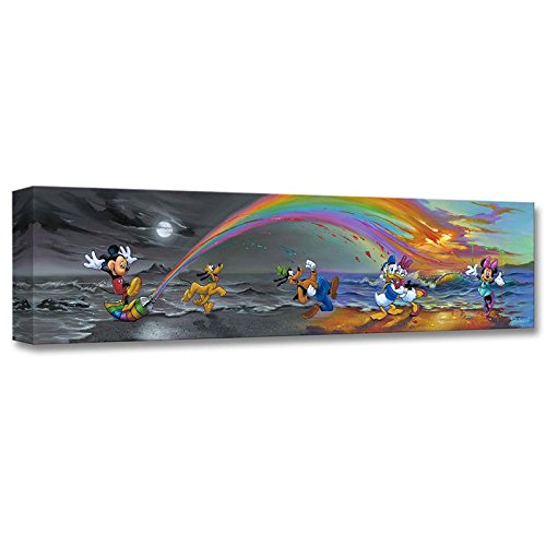 """Mickey Makes Our Day"" Limited edition gallery wrapped canvas by Jim Warren from the Disney Treasures collection, with COA."