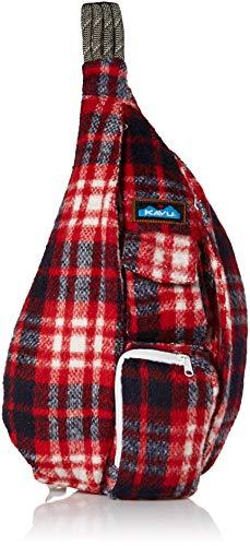 KAVU Plaid Rope Sling Bag Crossbody Backpack with Adjustable Shoulder Strap - Americana