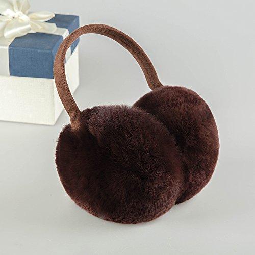 Cálido invierno orejeras del oído y la cubierta de la bolsa puede ser ajustada, café, café bar fiestas de Navidad regalos de cumpleaños