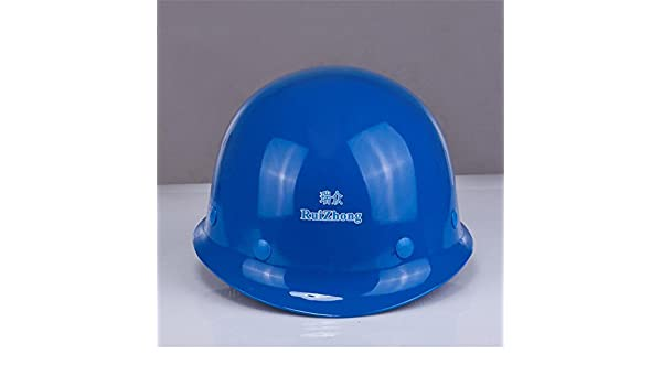 LJJ Casco de Fibra de Vidrio Casco de Seguridad Caseta de construcción Ingeniería de Potencia Casco de construcción (Color : Azul): Amazon.es: Hogar