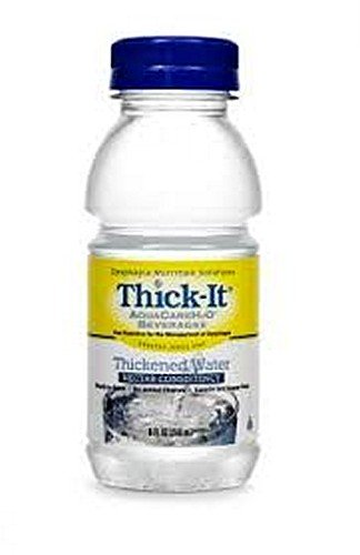 AquaCareH20 Thickened Water, Ready-to-use, Nectar Consistency, 8 oz Bottles – 1/Pack of 12