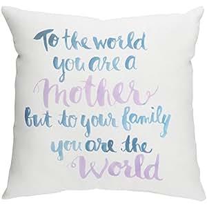 Surya usted es el mundo madre al aire libre almohada