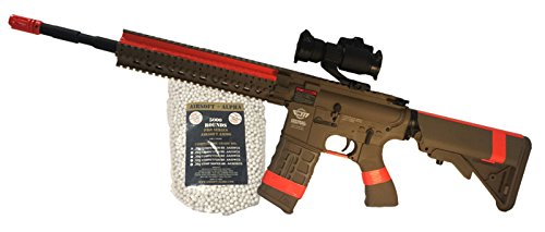 G&G CM-16 R8-L Tan Airsoft Alpha Python Package (NY/CA Compliant) by AirsoftAlpha