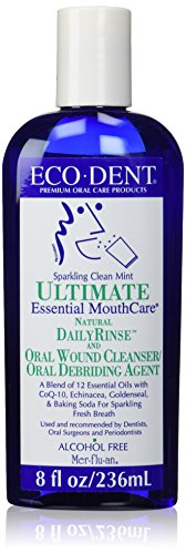 Eco Dent Daily Care - Eco- Dent Daily Rinse Ultimate Essential Mouth Care, Sparkling Clean Mint, 8 fl oz (237 ml) (Pack of 2)