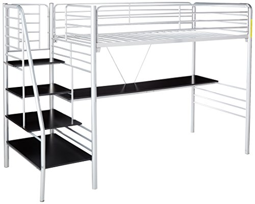 DONCO KIDS 45045TSS Series Bed, Twin, Silver