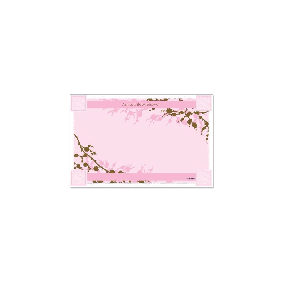 Baby Cherry Blossom   Personalized Baby Shower Placemats